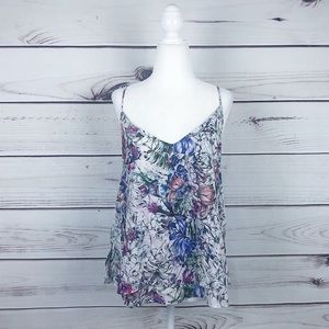 H&M Colorful Floral Layered Tank Top Size 8